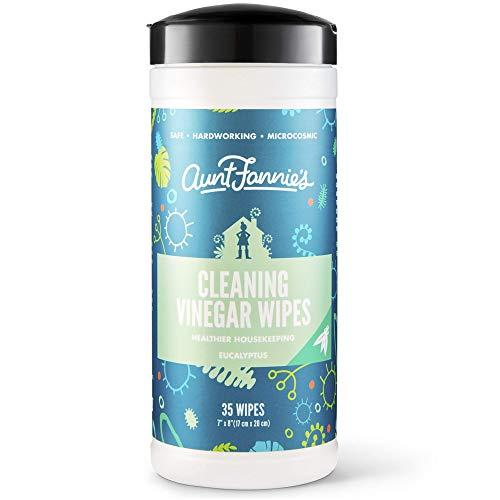Aunt Fannies Vinegar Wipes Eucalyptus, (Single Pack, 35 Count)