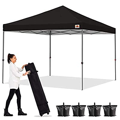 ABCCANOPY Outdoor Easy Pop up Canopy Tent 6x6 Central Lock-Series, Black