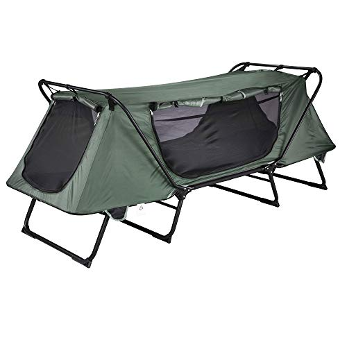 Yescom Folding Tent Cot Oxford Portable Waterproof Camping Cot Outdoor 1-Person Off Ground Tent with Carry Bag