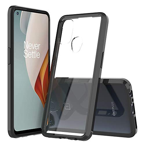 Sucnakp OnePlus Nord N100 Case Premium Clear Back Panel + TPU Bumper Cover for OnePlus Nord N100(YKL Black)