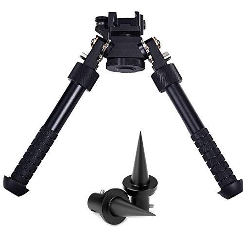 KIDYBELL V8 Tactical Rifle Bipod Adjustable 360° Gun Tripod Bracket for Outdoor Hunting in Shooting Range Shooting Range