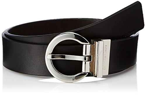 Calvin Klein Women's Reversible Belt,Black/ Brown,Medium