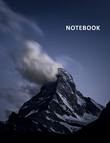 College Ruled Notebook: Famous mountain in Switzerland Useful Student Composition Book Daily Journal Diary Notepad for researching climbing the matterhorn cost
