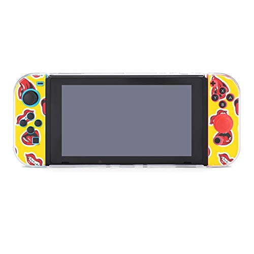 Case for Nintendo Switch,Cute Woman Lips And Mouths Protective Case Cover for Nintendo Switch Funny Fashion Switch Game Shell Handheld Grip Protector Cover