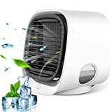 Personal Air Cooler Fan with 3 Speeds, USB Mini Desktop Air Cooler Fan-Use, Portable Air Conditioners Night Light Feature, for Home, Office, Bedroom, outdoor