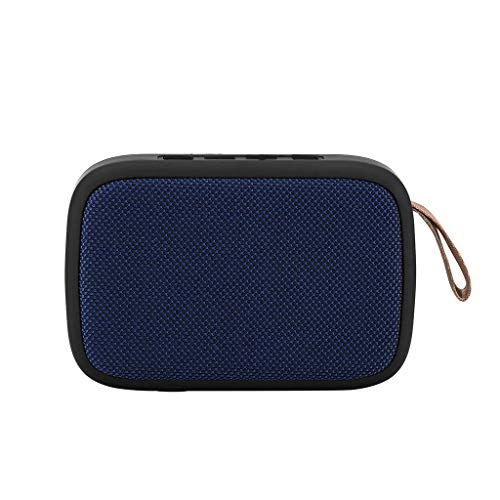 Altavoz portátil inalámbrico Bluetooth estéreo, tarjeta TF, altavoz FM para smartphone y tablet, compatible con Bluetooth/USB/tarjeta TF/FM (B)