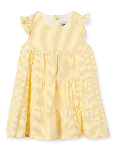 Petit Bateau Baby-Jungen 5967501 Kleid, Shine/Marshmallow, 80