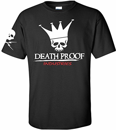 Death Proof Industries Original DPI Speed Shop T-Shirt Tee (Large, Black)