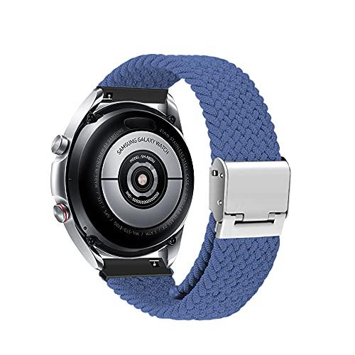 Niboow 20mm Solo Loop Armband Kompatibel mit Samsung Galaxy Watch 4, Ersatzband für Samsung Galaxy Watch 4 Classic/Galaxy Watch Active/Active 2/Galaxy Watch 3 41 mm/Samsung Gear Sport/S2 Classic-Blau