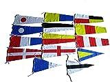 Unbekannt Naval Signal Fahnen/Set, Set insgesamt 14Flagge–Marine Code, Nautical/Maritim/Marine/Boot/Schiff/Schiff/Nautical Décor