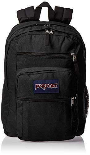JanSport Big Student Backpack - Sustainable 15-inch Laptop School Bag, Black