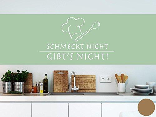Klebefieber Wandtattoo Schmeckt Nicht B x H: 100cm x 58cm Farbe: Kupfer