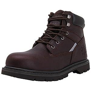 GW Men's 1606ST Brown Steel Toe Work Boots 10.5 M US