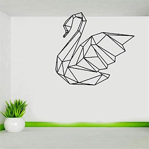 Wandaufkleber Kinderzimmer wandaufkleber 3d Geometric Swan Modern Style Creative Design Home Decor For Wall Decoration 3D