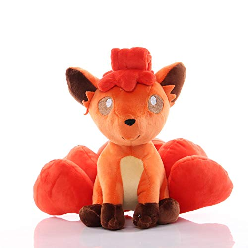 qwermz Stofftier, Tasche Monster Vulpix Plüschpuppe Kuscheltiere Spielzeug Niedliche Figur 20cm Kleines Kind Geschenk