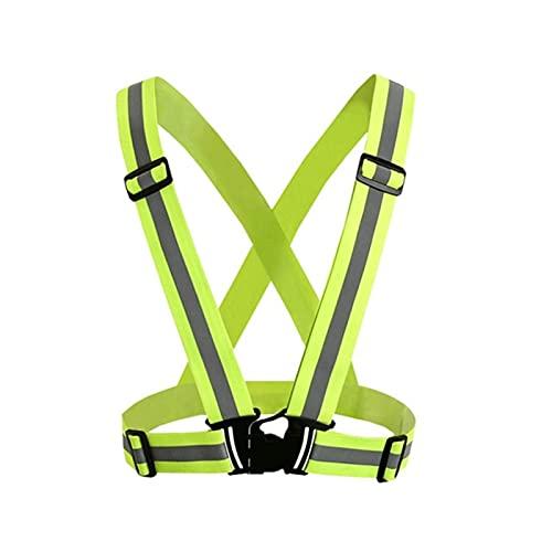 LLRZ Reflectantes Chaleco de Seguridad Reflectante de neón de Alta Visibilidad para Correr Deportes de Ciclismo Visibilidad (Color : Green)