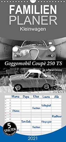 Goggomobil Coupè 250 TS in schwarzweiss - Familienplaner hoch (Wandkalender 2021, 21 cm x 45 cm, hoch)
