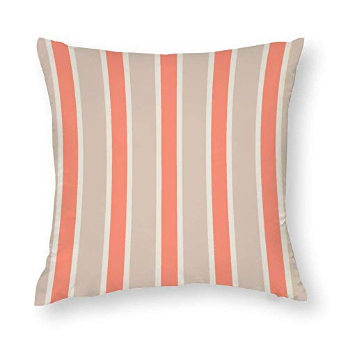 WH-CLA Funda de almohada moderna a rayas colorida para el hogar, sofá, funda impresa con cremallera de 45 x 45 cm, fundas de almohada para decoración del hogar acogedor.
