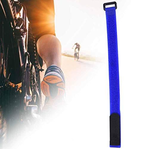 DAUERHAFT Cinta Adhesiva de Nailon Correa práctica para Bicicleta Correa de Lazo para Bicicleta, Apta para Bicicleta(Blue)