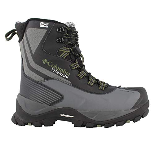 Columbia Powderhouse Titanium Omni-Heat 3D Outdry Winter Boot - Men's Black/Mosstone, 8.0