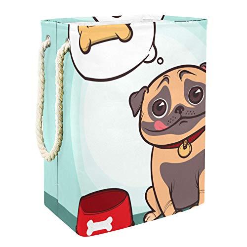 Vito546rton Cesta plegable para la colada con forma de perro, para adultos, niños, adolescentes y niñas en el dormitorio o el baño