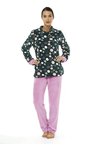 Pijama Mujer Invierno en coralina