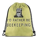 Bingyingne I 'D Prefiero ser apicultura Bolsa con cordón Bolsa de deporte deportiva Bolsa de viaje Bolsa de regalo Mochila de fitness, mochila escolar, bolsa de viaje