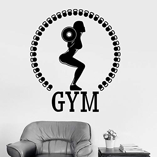 Tianpengyuanshuai fotobehang vrouw fitnessstudio fitness club decoratie halters bodybuilding gezond lichaam leven vinyl raamsticker