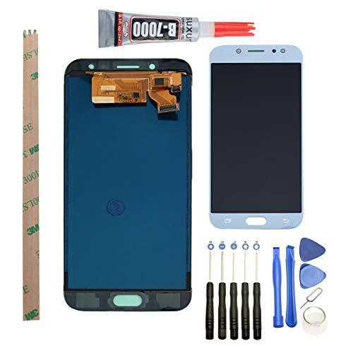 YWL-OU Reemplazo de Pantalla para Samsung Galaxy J7 Pro 2017 J730G LCD Display Digitalizador de Pantalla táctil +con un Conjunto de Herramientas (Azul)