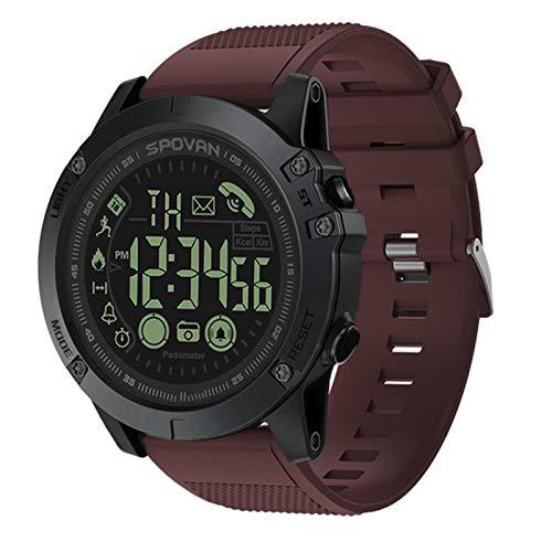 ZYY PR 1 Reloj Inteligente para iOS Y Android 24 Horas Al Día Monitoreo Smart Sports Watch Pedómetro Recordatorio Bluetooth Cronómetro Impermeable,B