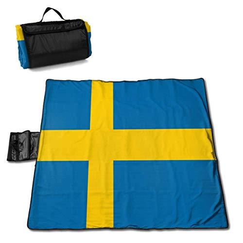 End Nazi Flag of Sweden wasserdichte Picknickdecke im Freien Sanddichte und wasserdichte Picknickdecke für den Strand Camping