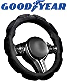 Goodyear, GY1339, High Race Performance Steering Wheel Cover, Non-Slip, High Grip, Universal - Fits Most Cars, Diameter: 14.5' - 15.5', All Weather Ready, Sportive, A Must-Have Car Accessory for Men