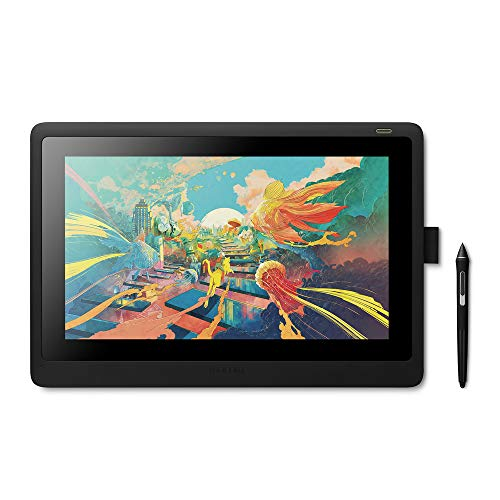 Wacom Cintiq 16 - Monitor Interactivo y bolígrafo Wacom Pen Pro 2, Pantalla LCD de 16' para diseño digital, Resolución Full HD, Compatible con Windows y OS, Negro