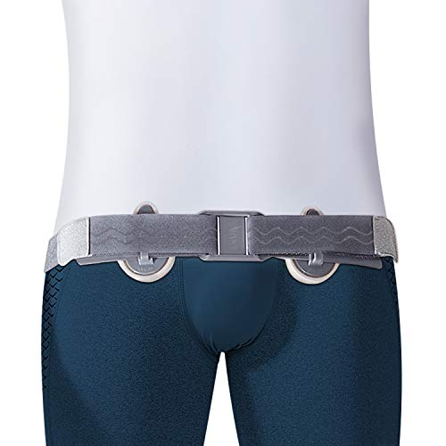 Hernia Belt Truss for Single or Double Inguinal, Femoral Hernia, Incisional - Adjustable Lightweight Hernia Support Brace for Men & Women Pain Relief Recovery with Removable Cushions, Elastic belt.