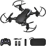 Powerextra Mini Drone con Fotocamera 3 Batterie per Principianti - Mini Drone Pieghevole con...