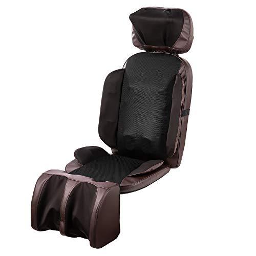 CO-Z Massageauflage Massagesitzauflage mit Wärmefunktion Vibrationsmassage Massagematte Rücken- und Schultermassagegerät 16 Shiatsu Knoten zuhause im Büro (16 Knoten mit Beinmassage)
