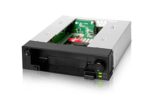 Icy Dock DuoSwap MB971SP-B - SATA Hot Swap Wechselrahmen für 2,5 Zoll (6,4cm) und 3,5 Zoll (8,9cm) SSD/HDD in 1x 5,25 Zoll (13,3cm) - Trägerlos