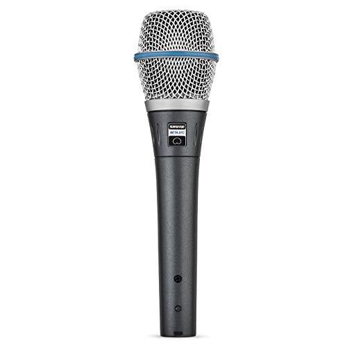 SHURE BETA 87C - Micrófono condensador cardioide de voz para grabación profesional de estudio y fabricado para aguantar los rigores de las giras