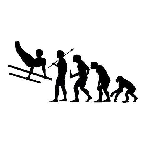 Black Evolution Gymnastics Parallel, Autoaufkleber, Kindersicherheitsaufkleber, Vinyl-Aufkleberaufkleber, Autos Lastwagen Vans Windows Wände Tassen Laptops, Wandtattoo, Wandaufkleber, dekoratives Auto
