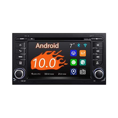 """Car Stereo, 2 Din for Audi A4 S4 RS4, 7"""" Touchscreen,DSP+, DVD Player in-Dash, Support Apple carplay Android Auto/GPS navi/Fast Boot/Back Camera/OBDII"""