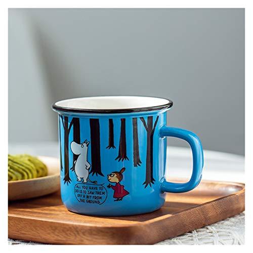 LAKYT Taza del infusor de té Taza de cerámica de la Taza de la Taza de la Leche de la Historieta Taza de la Taza de Regalo de la Taza de consumición de los niños Retro Cuencos pequeños