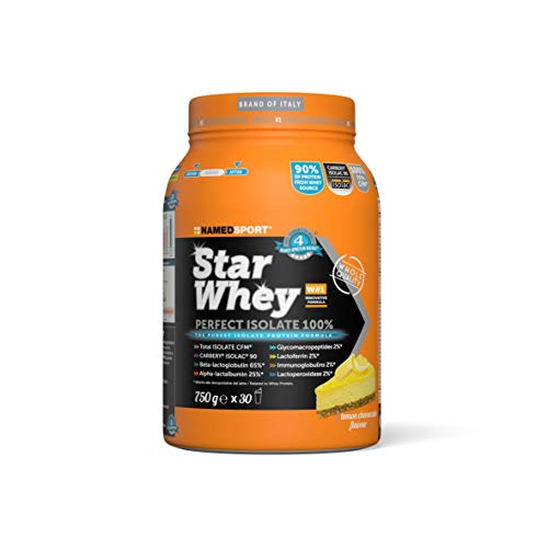 Named Sport Star Whey Isolate 100% Integratore Proteine Cheesecake Limone 750 g