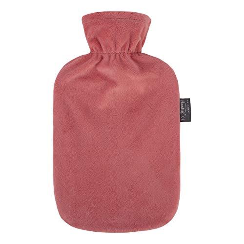 Fashy Corail Bouteille d'eau chaude avec housse en peluche, 2 litre