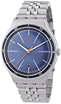 Swatch Herren-Armbanduhr XL Irony Big Classic Star Chief Analog Quarz Edelstahl YWS402G
