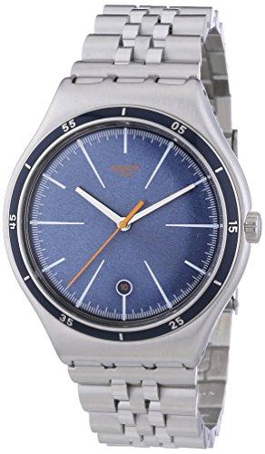 Swatch Irony Big Classic Star Chief - Reloj de Cuarzo para Hombre, con Correa de Acero Inoxidable, Color Plateado