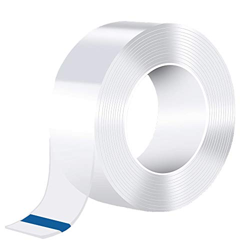 Caulk Tape Strip, Fonday Self Adhesive Waterproof Repair Tape for Kitchen, Bathtub, Bathroom Shower, Toilet, Sink, Gas Stove and Wall Mildew Sealing (1, 59/50 Inch Width x 9.8 Feet Length)