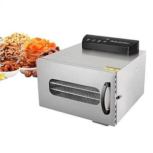 Best Prices! Food Dehydrator Machine All Stainless Steel Dehydrator Raw Food Jerky Fruit Dryer, 400W...