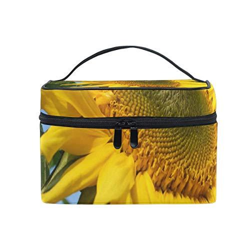 Sacchetto di trucco Girasoli Quotes Lunedi sacchetto cosmetico portatile grande borsa da toilette per le donne/ragazze di viaggio