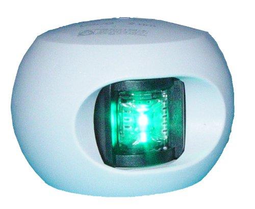 Aqua Signal 12 Volts boîtier Blanc LED Starboard 3,2 km Fixation latérale lumière (Vert)