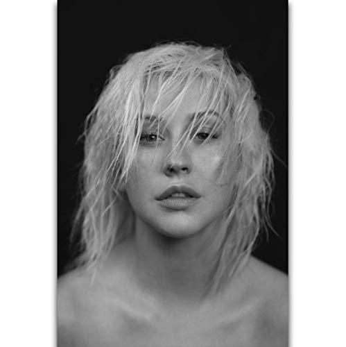 yhnjikl Portada del álbum Christina Aguilera Liberation Pop Music Singer Wall Art Painting Print On Silk Canvas Poster Home Decoration 40X60Cm Sin Marco